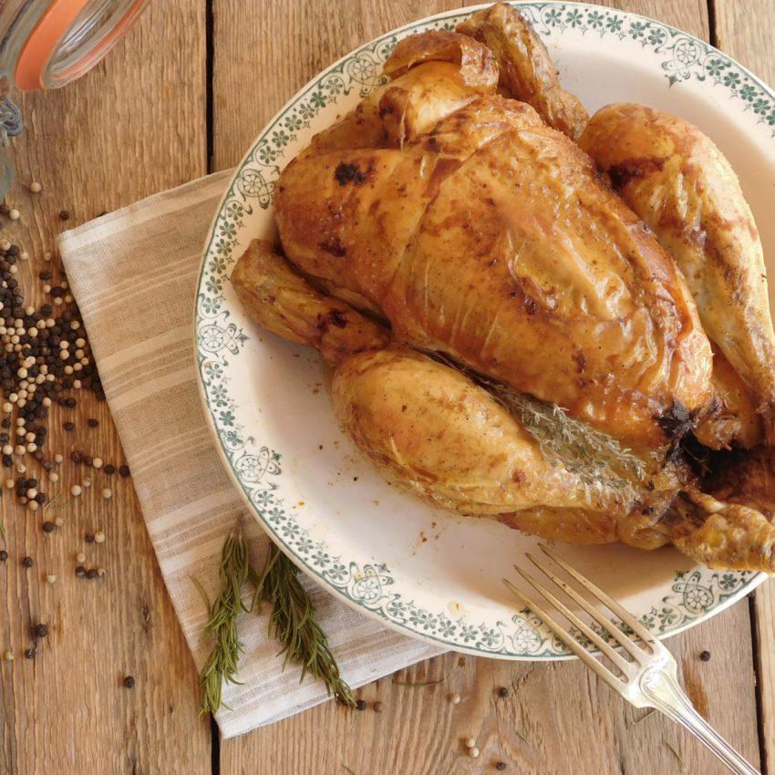 Recette poulet roti au thym bio