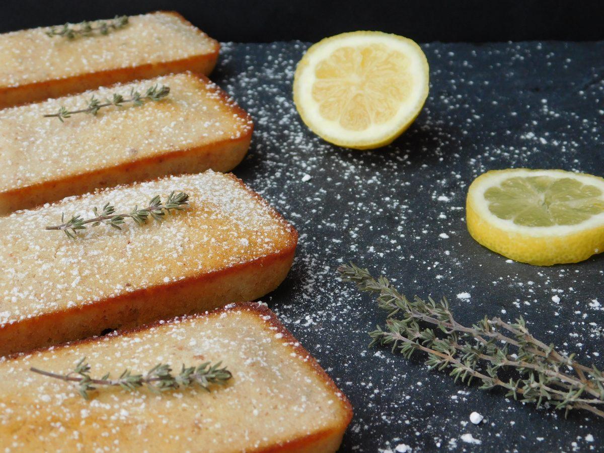 Recette de financier citron thym bio