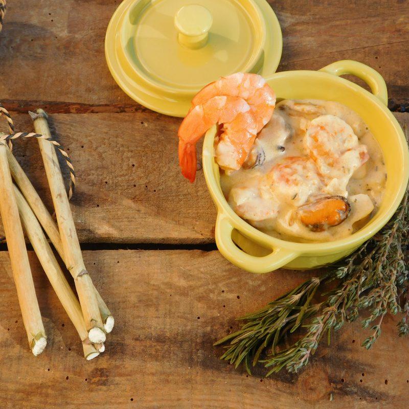 Recette de cocotte de fruits de mer aux herbes